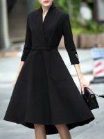 ชุดสีดำล้วนสำหรับผู้หญิง