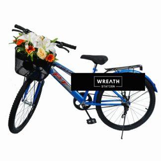 พวงหรีดจักรยานดอกไม้หลากสี