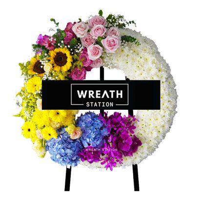 พวงหรีดดอกไม้สด หลากโทนสี สดชื่น คลายเศร้าได้ดีจากหรีดสเตชั่น